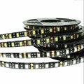 Светодиодная лента 5050 водонепроницаемая черная печатная плата 12 В RGB 5050 SMD гибкая светодиодная лента 60 светодиодов/м 5 м 300 RGB