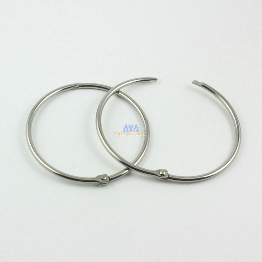 10 Pieces 58mm Stainless Steel Curtain Rings Curtain Open Rings Sliding Hook Rings