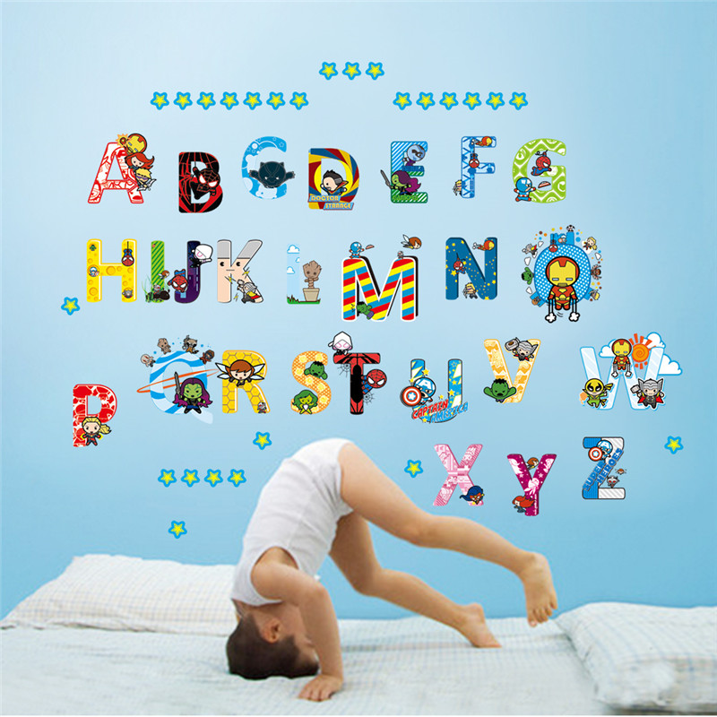Online buy wholesale alphabet room decor from china for Letters for kids rooms