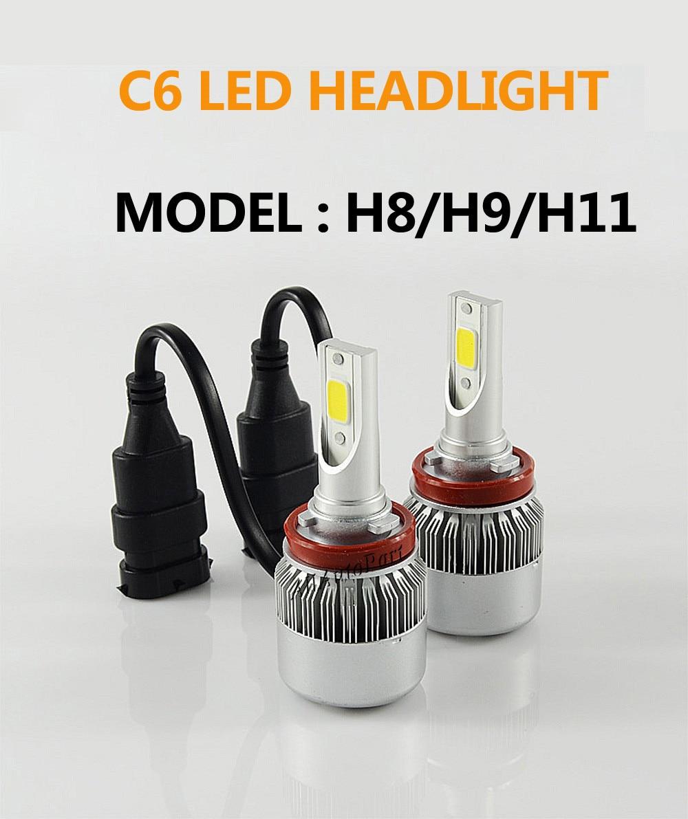 80W 6400LM CREE Xenon HID Kit Head Light 6000K White 9007 LED HEADLIGHT PL