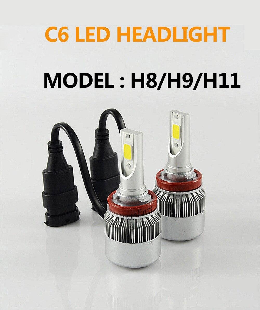 C6 Auto Led Headlight Bulbs H7 H1 H4 72W 7600LM COB Chip 3000k 6000k Car LED Headlamp Lamp for led Bulb S2 H11 H3 Light