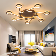 Brown modern Led Chandelier lighting for bedroom living room dining room iron lustre luminaria lampadario Ceiling Chandelier brown modern led chandelier for living room bedroom chandelier lighting luminaria lustre lampadario lustres para sala de jantar