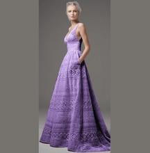 6ea5d742c1bf Promoción de Púrpura Largo Vestido De Encaje - Compra Púrpura Largo ...