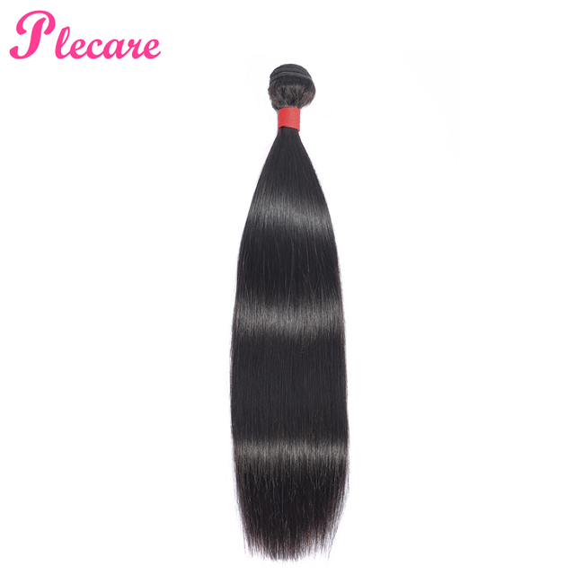 Plecare Brazilian Straight 100% Human Hair Weave Bundles 8-26 Inch Non-Remy Natural Color Hair Extensions Free Shipping