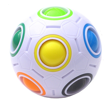Hot Spherical Magic ball Cube Toys Novelty Rainbow Ball Football Puzzle Cubes Learning  Educational For Children Kids
