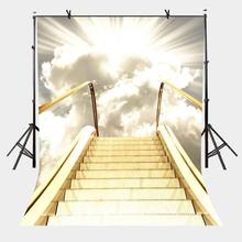 5x7ft Escalator Backdrop Sunny Luxury Gold Escalator Photography Background and Studio Photography Backdrop Props