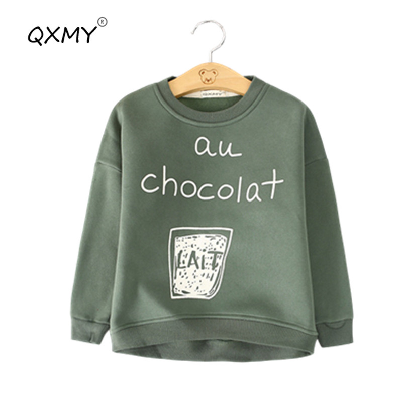 Hot Autumn Winter Baby Boys Girls Sweatshirt Warm Fleece T Shirt For Boys Girls tops tees Shirt Outwear Kids Children Clothes