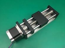 GGP 1605 200mm ball screw Sliding Table effective stroke  Guide Rail XYZ axis Linear motion+1pc nema 23 stepper motor
