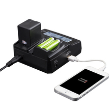 Udoli Universal Camera Battery Dual Charger for Sony NP F770 F750 F570 F550 F530 NP F970 F960 F950 F930 NP-F970 FM500H NP-FM500H