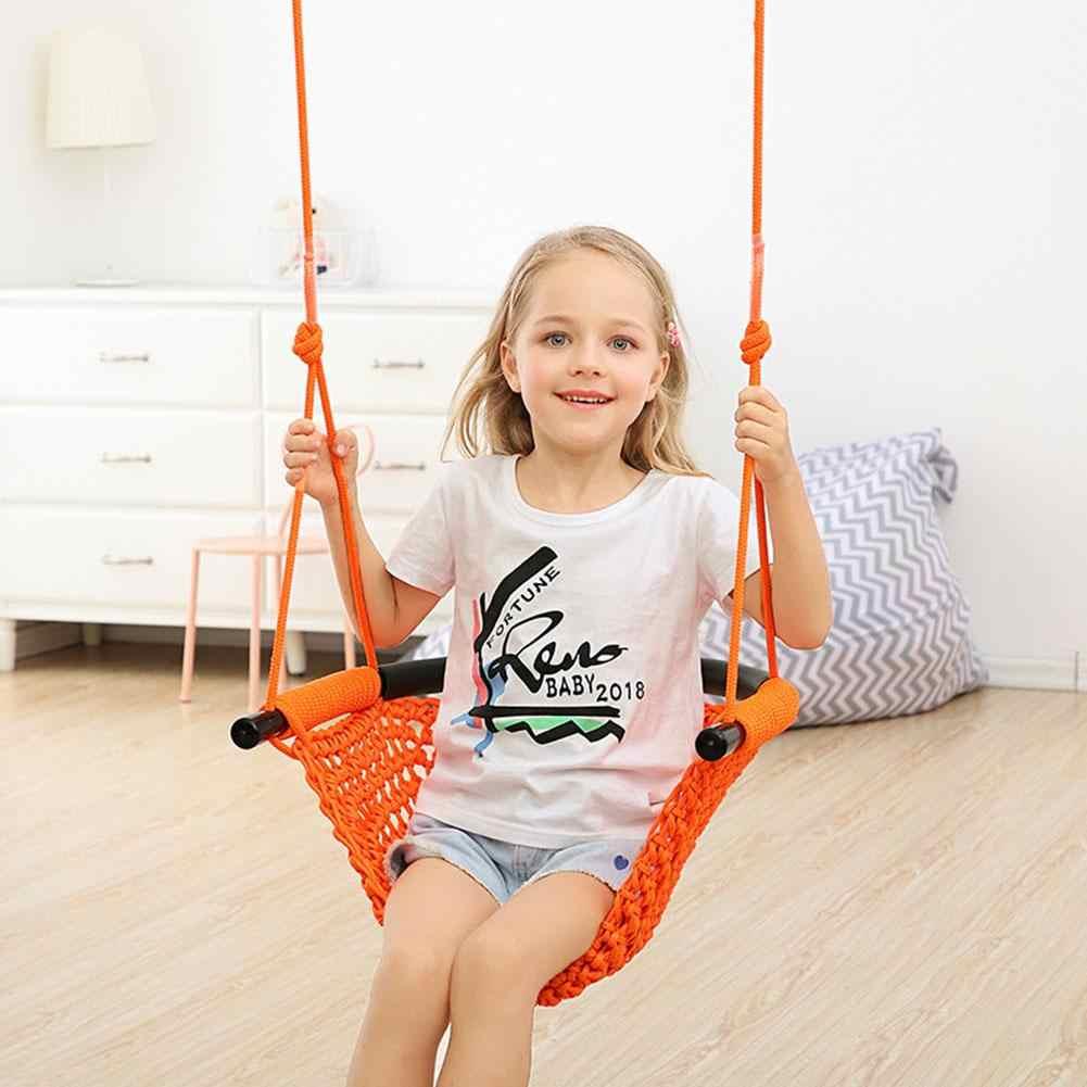 Red de cuerda de juguete para niños de interior y al aire libre de la familia bebé silla colgante columpio al aire libre silla colgante Columpio de juguete para niños