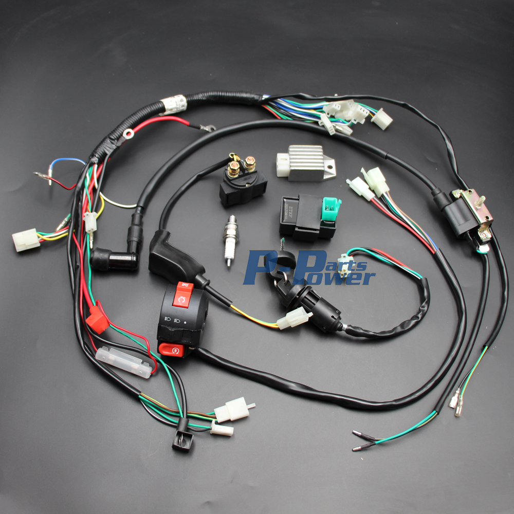 50cc 70cc 90cc 110cc 125CC CDI Coil Wire Harness Assembly ...