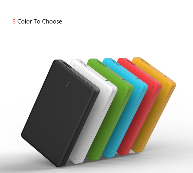 Externo HDD 2000G DISCO RÍGIDO móvel ou 64G/128G/256G SSD USB3.0 motorista duro caixa de transporte de plástico disco rígido de 2.5 ''sata III 6 6gbps 2016 hot