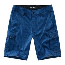 2017 Para Hombre Pantalones Cortos de Surf Pantalones Cortos de Deporte de Playa de Protección Solar Del Verano Homme Bermudas Pantalones Cortos de Secado rápido de múltiples bolsillos pantalones cortos