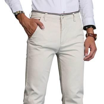 Casual Khaki Pants Mens Hight Quality Business Long Pant