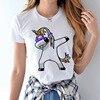 High Cotton Unicorn T Shirt Female 2017 Summer Woman Fashion Tops Women Tee Shirts Casual Short