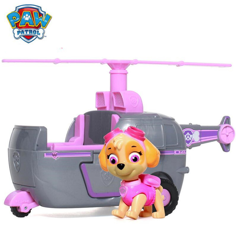 Paw patrol Puppy Patrol Dog Skye Anime Toys Figurine Car Toy Action Figure model patrulla canina toys Children Gifts new electronic wristband patrol dogs kids paw toys patrulla canina toys puppy patrol dogs projection plastic wrist watch toys