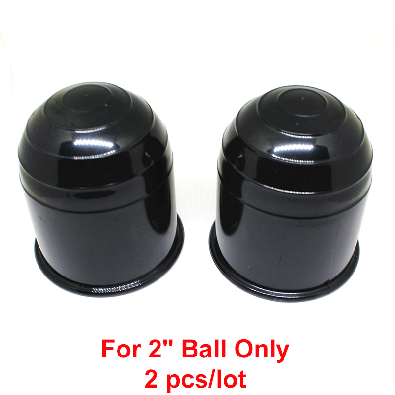 2pcs/lot ABS 2 50mm Trailer Ball Protection Cap Black Plastic HitchBall Cover Tow-Ball Cap Trailer Protection Ball Cover