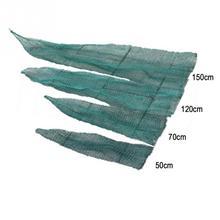 New 50/70/120/150cm Fishing Net Mesh Bag Green Fish Bag Cage Tackle Fishing Landing Tackle accessory tool