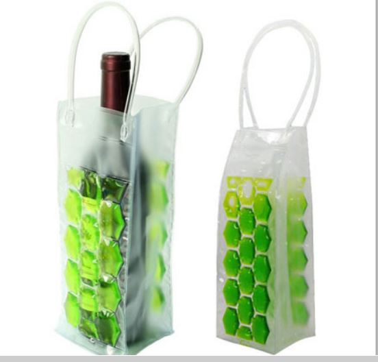Free shipping PVC wine cooling bag ice cooler jelly bag picnic beverage Beer wine bottler cooler wine holder