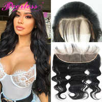 Peerless Hair Body Wave Lace Frontal 13X4 Ear To Ear Free Part Remy Human Hair Closure Natural Color 10-20 Inch