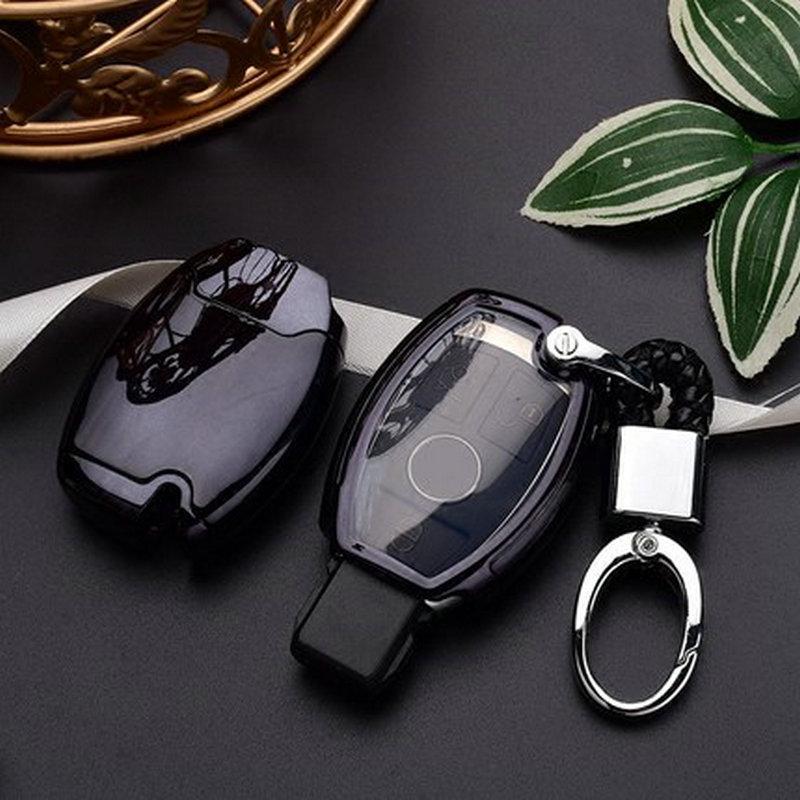 PC+TPU Car Key Cover Case For Mercedes Key Chain Keyring Benz W204 W205 W212 C E S GLA AMG ETC