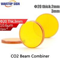 10 6um Laser Beam Combiner Mirror 20 2mm 20 3mm Co2 Laser Beam Combiner Mirror Diameter