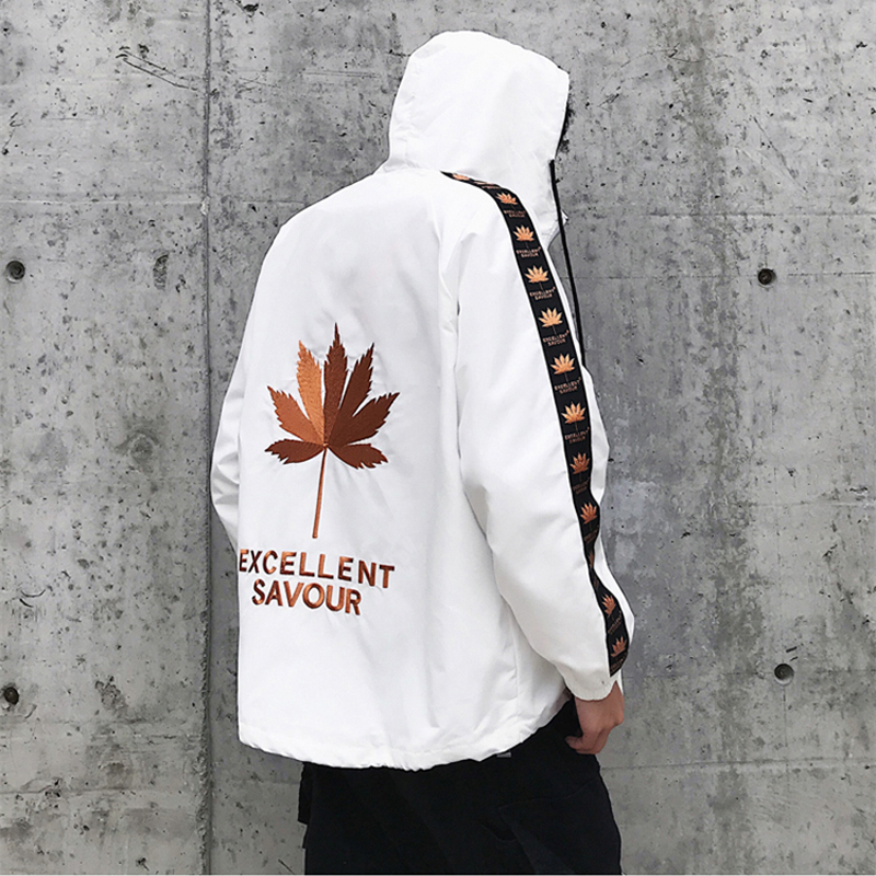 Coat Ma1 Jacket Jeans Leaf-Embroidery Mens Bomber Hip-Hop Autumn Black Masculino Jaqueta