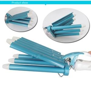 Image 5 - Hair Rooler Perm Splint Ceramic Hair Curler 5 Barrels Big Wave Hair Curling Iron Hair Waver Curlers Styling Tools