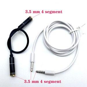 2 unids/lote macho a macho de Audio de Cable aux. De extensión jack 3,5mm 4 polos hembra a hembra Cable de Audio Cable chapado en oro de Cable de Audio