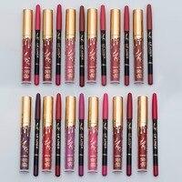 Maquillage Brand 12Pcs/Lot Matte Liquid Lipstick Lips Pencil lip kit cosmetic Waterproof Lasting Lipstick Velvet Lip gloss