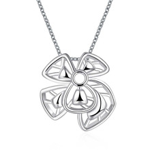 hot deal buy 925 sterling silver women fashion jewelry hollow smooth flower tag pendant necklace for women fine jewelry party jewelry