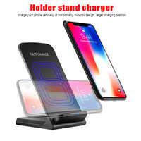 Qi carregador sem fio 10 w carregamento rápido para o iphone xs max xr x 8 plus para samsung s9 s8 s7 rápido sem fio carrinho adaptador