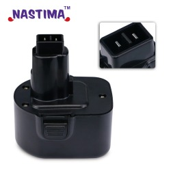 NASTIMA Ni-MH 12V 3600mAh Replacement Batteries For dewalt de9074 DW9071 DW9072 DC9071 DE9037 DE9071 DE9072 DE9075 152250-27