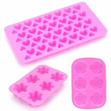 Silicone Mold Ice Cube Candy Chocolate Cake Cookie Cupcake Soap Mould DIY Homemade Food Making Moulds skeleton skull head silicone chocolate muffin cupcake candy ice cube mold halloween