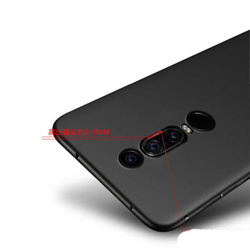 Noir pur Dos étui pour huawei Mate RS de Téléphone TPU Souple étui pour huawei Mate rs & Transparent Couverture Mince PC Peau Coquille
