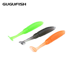 GUGUFISH 15Pcs/lot 5cm 1g Fishing Lure Soft Worm Shrimp Fish Ocean Rock lure bass soft fish smell soft baits T tail Bait