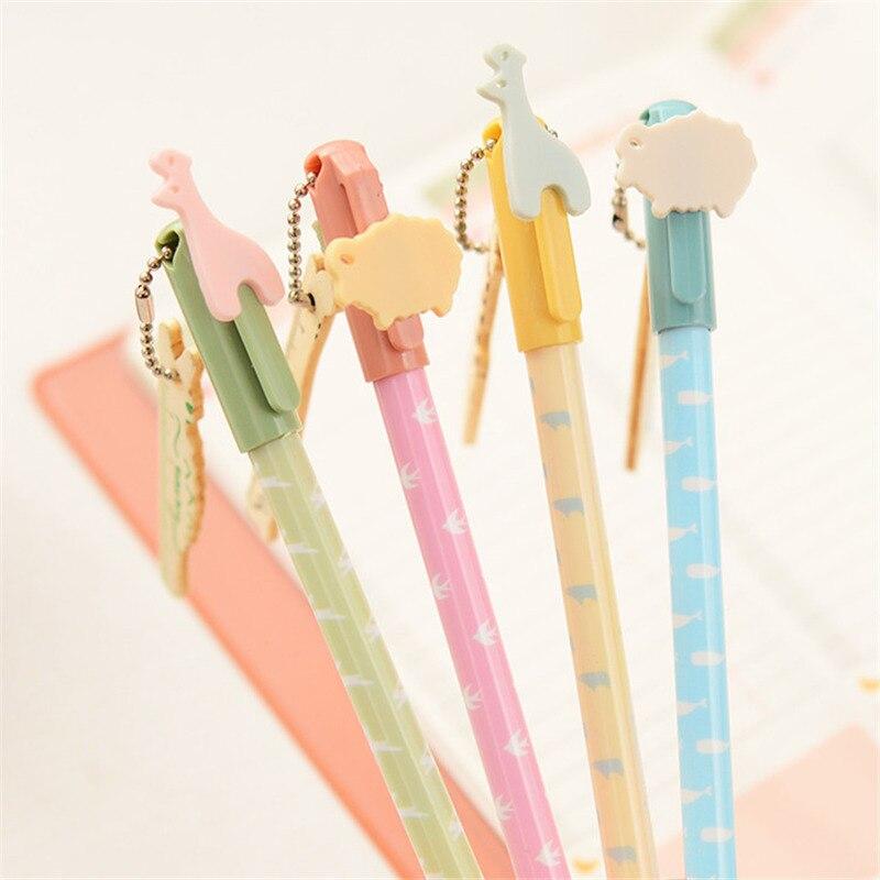 12Pcs/Lot Korean Creative Pendant Gel Pen Cute Kids Stationery Store Escritorio Stationary School Tool Material Thing Item Shop
