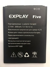 цена на For EXPLAY Five Battery 2000mAh High Quality Accumulator
