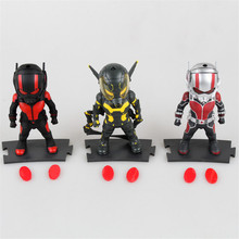 Christmas Toy Gift Marvel Superhero Action Figure Correction 10cm Cute Ant Man Model Doll Ant-man Automobile Decorations