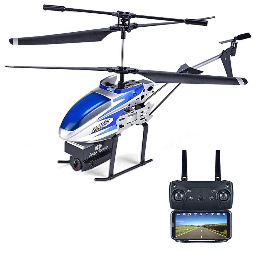 Мини 4CH 6 оси 1080 P RC самолет WI-FI стабильный Gimbal 4CH 6 оси HD 1080 P плоскости для камер плоскости Прямая вертолет - Цвет: blue