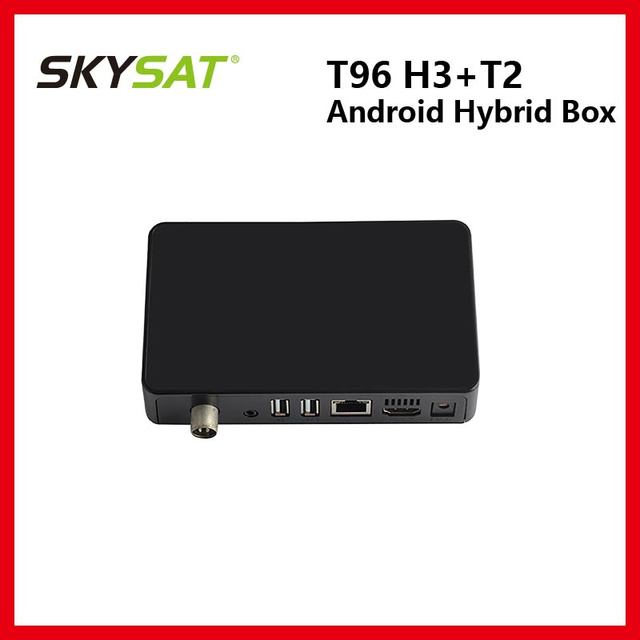 US $33 48 35% OFF|T96 H3 Android DVB T2 Combo Box support H 265 Android 7 0  RAM 1GB ROM 8GB RJ45 Built in WiFi 2 4GHz BT4 0 support 3G/4G Dongle-in