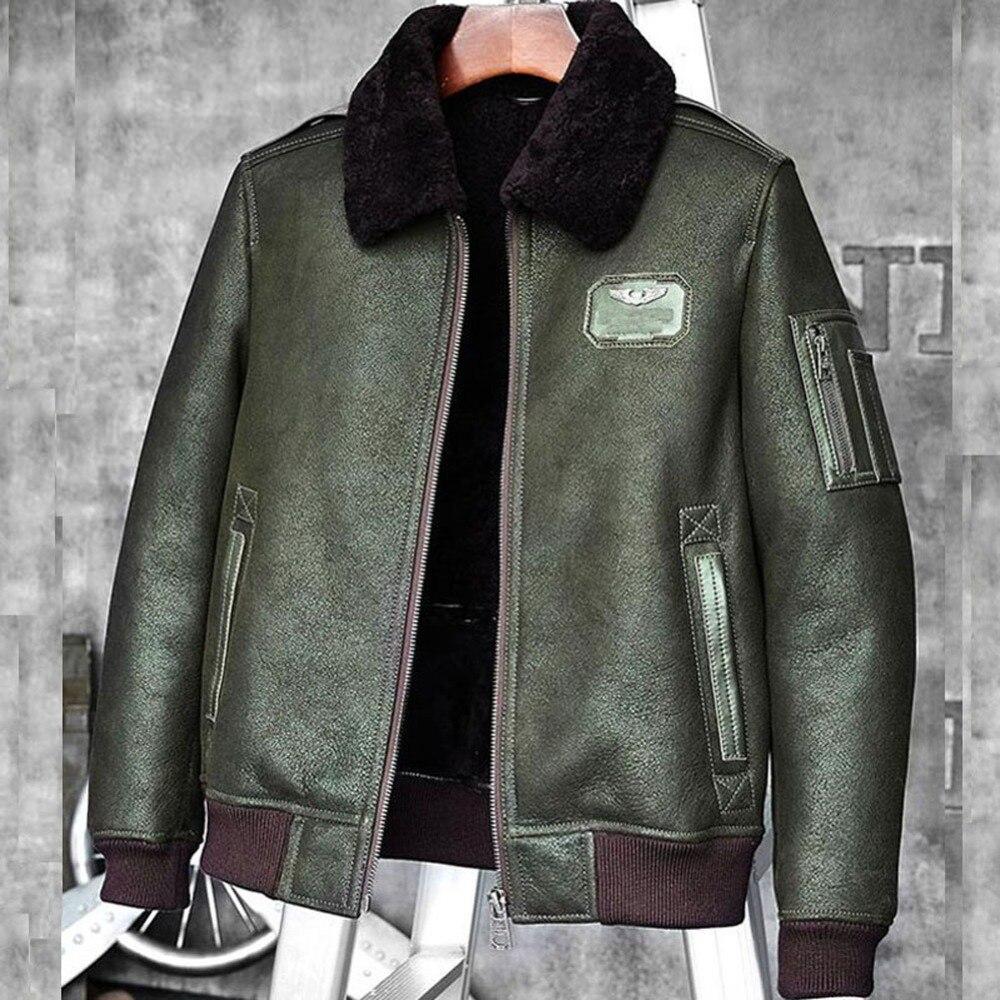 new styles 3bd11 c3a84 Il Pilota verde B3 Pelliccia Dell'esercito Outwear Pelle ...