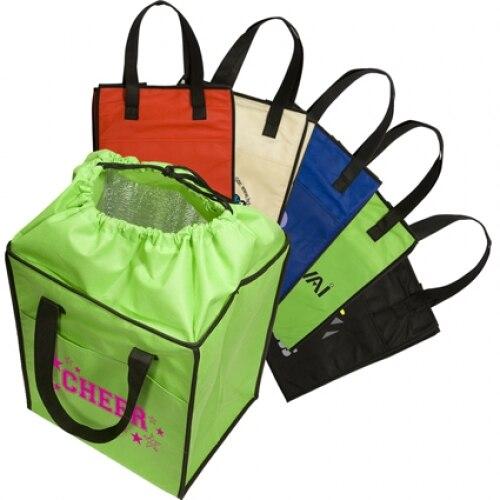 2018 Polyester Multi Color Cooler Bag Interior Aluminum Foil Lunch Bag Drawstring Bag High Capacity Totes Bag Vkystar 378