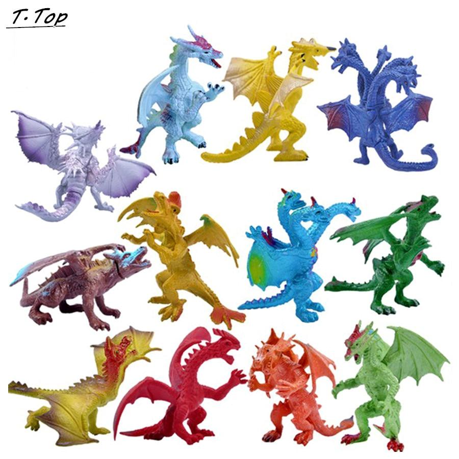 Dinosaur Hell Dragon Multi color Diecast simulation Toy