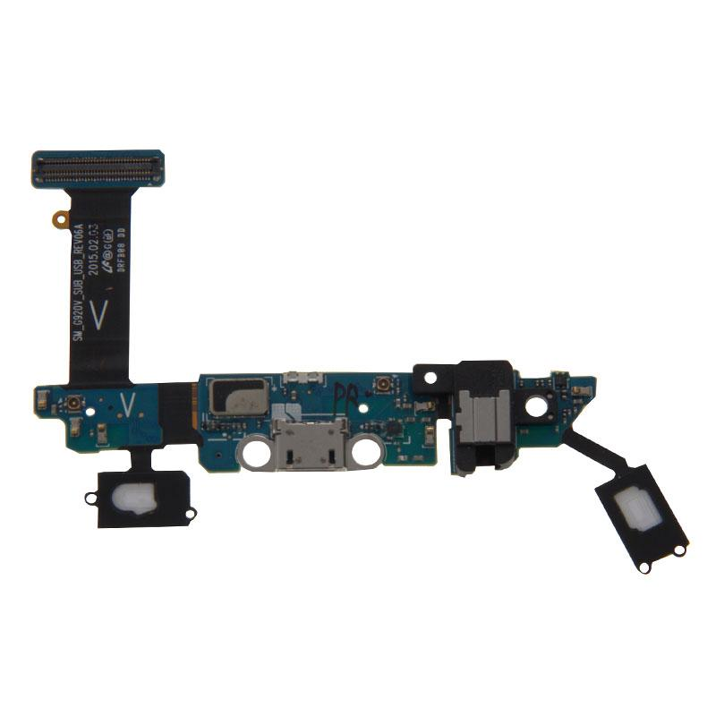 iPartsBuy Charging Port Flex Cable for Samsung Galaxy S6 / G920V Replacement Spare Parts