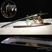 Top Quality Handmade Japanese Katana Sword Sanmai Lamination Clay Tempered Folded Steel Blade Sharpness Ready for Battle