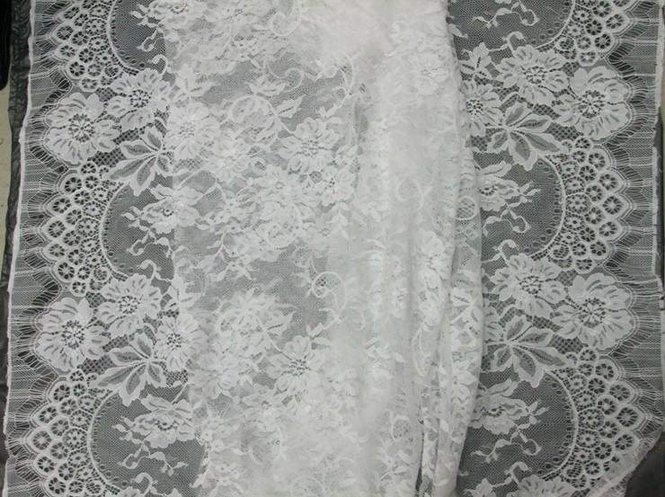 French Lace Wedding Gown: Wedding Gown French Lace Fabric,Chantilly Lace , Rachel