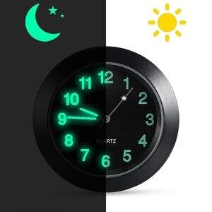 Image 4 - 車発光ゲージ時計クリップ自動車エアベントクォーツ時計美しいと実用的な電子時計スタイリングベンツ bmw