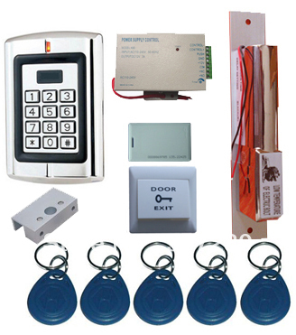ФОТО Wholesale Single Door RFID Card Access Control System Complete Kits for Glass Door