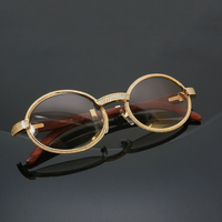 Wholesale Rhinestone Sunglasses Men Carter Glasses Frame Luxury Stainless Eyewear for Dating Party Club Decoration Accessories